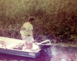 Boating with my Dad in 1975.